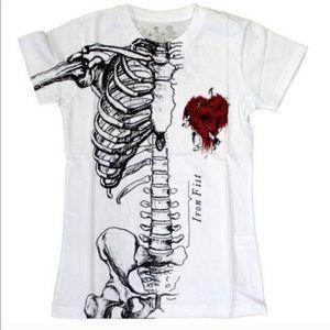Iron Fist White Skeleton Tee
